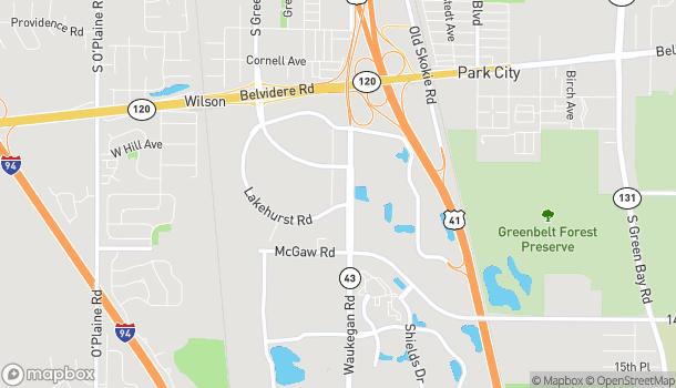 Mapa de 988 S Waukegan Rd en Waukegan