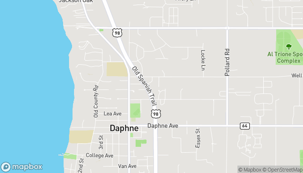Map of 2200 Highway 98 in Daphne