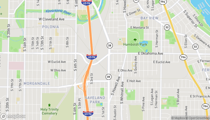 Map of 3259 S Chase Ave in Milwaukee