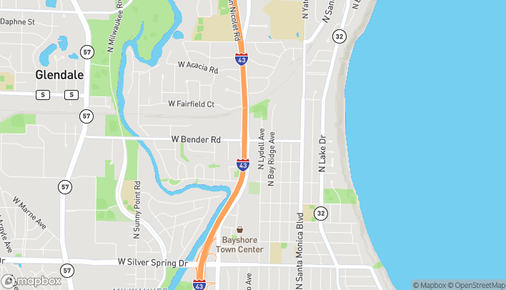 Map of 6150 N. Port Washington Rd in Glendale
