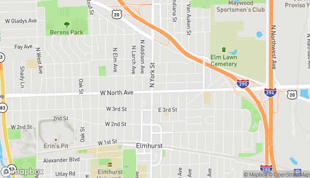 Mapa de 291 North York Street en Elmhurst