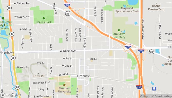Map of 291 North York Street in Elmhurst