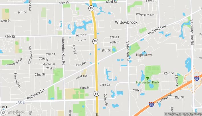 Mapa de 950 Plainfield Rd en Willowbrook