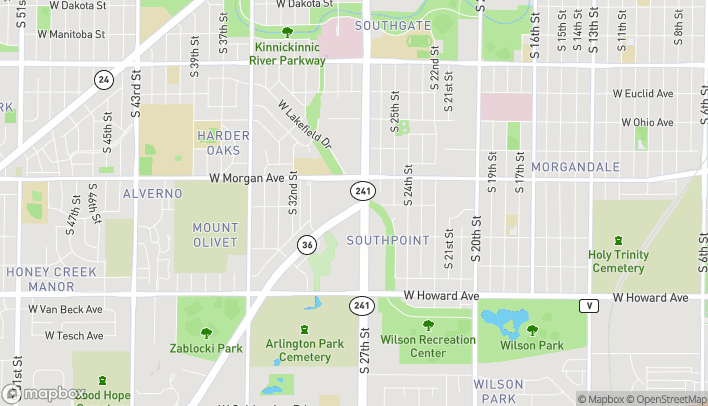 Map of 3543 South 27th Street in Milwaukee