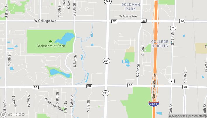 Mapa de 6807 S. 27th Street en Franklin