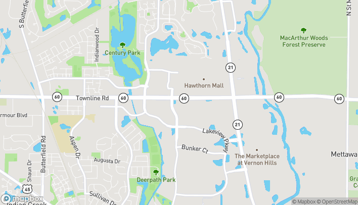 Map of 445 E Townline Rd in Vernon Hills