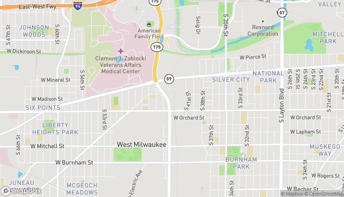 Map of 1236 Miller Park Way in Milwaukee