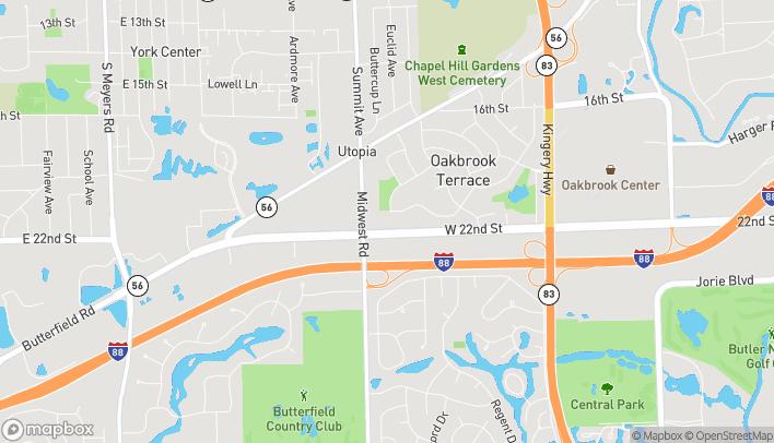 Mapa de 17w504 22nd St en Oakbrook Terrace