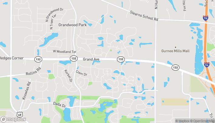 Mapa de 7075 Grand Ave en Gurnee