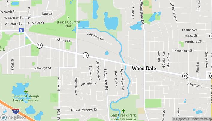 Mapa de 336 W Irving Park Rd en Wood Dale