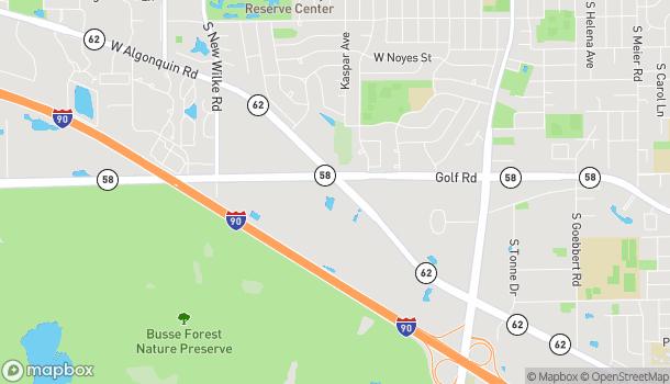 Mapa de 1155 Golf Rd en Rolling Meadows