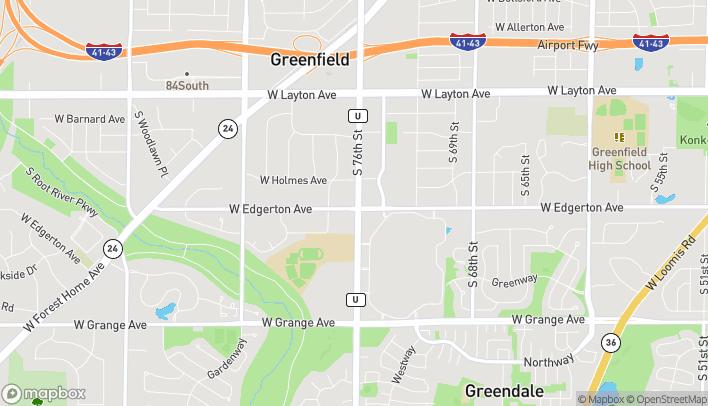 Mapa de 5075 S 76th St en Greenfield