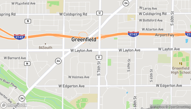 Map of 4739 S 76th St in Greenfield
