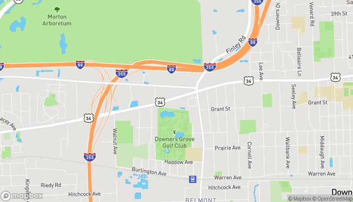 Mapa de 2321 Ogden Ave en Downers Grove