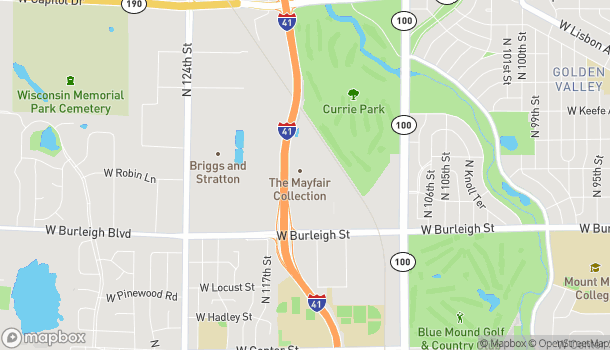 Map of 11450 W. Burleigh St in Wauwatosa