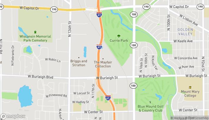 Mapa de 11450 W. Burleigh St en Wauwatosa