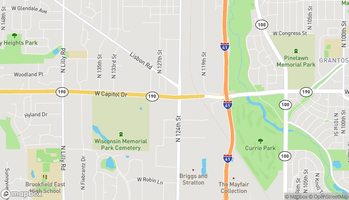 Map of 12455 W. Capital Drive in Brookfield