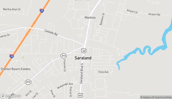 Map of 16 North Saraland Blvd in Saraland