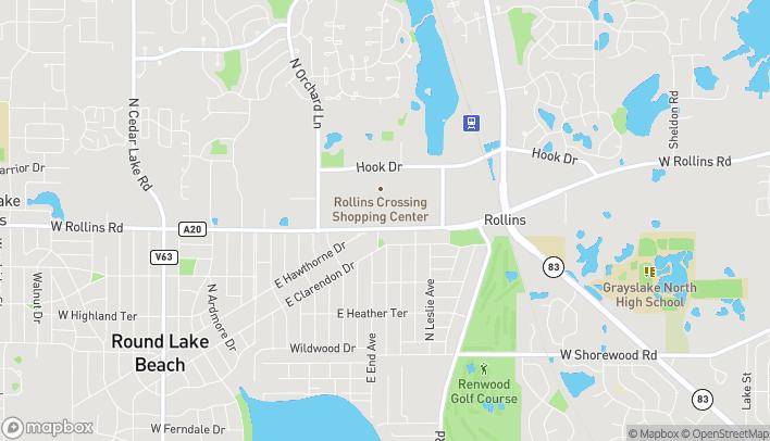 Mapa de 420 E Rollins Rd en Round Lake Beach