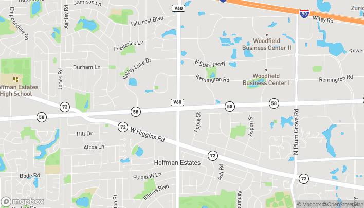 Mapa de 1225 N Roselle Road en Schaumburg