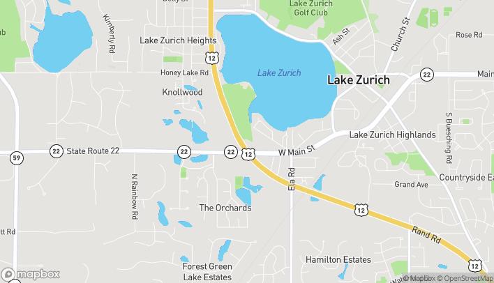 Mapa de 430 S Rand Rd en Lake Zurich