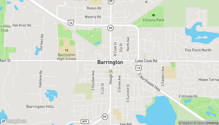 Mapa de 110 S. Hough Street en Barrington