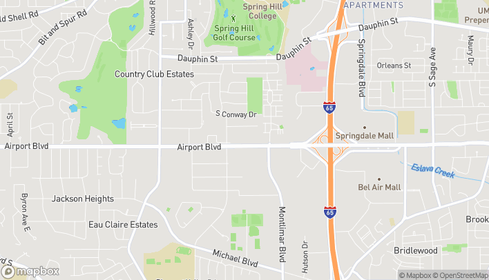 Map of 3730 Airport Blvd in Mobile