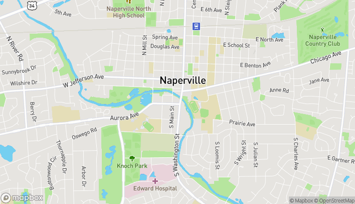 Map of 423 S Washington St in Naperville