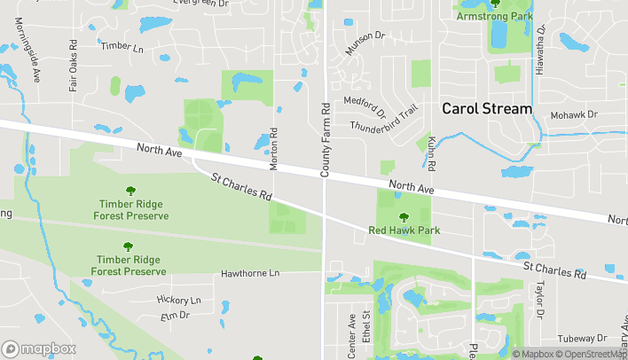 Map of 27w245 North Ave in West Chicago