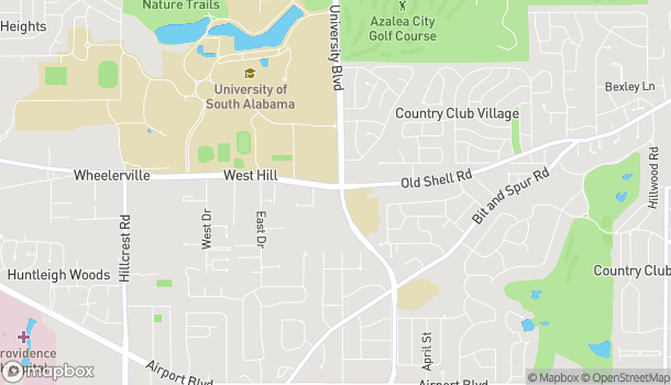 Map of 5701 Old Shell Road in Mobile