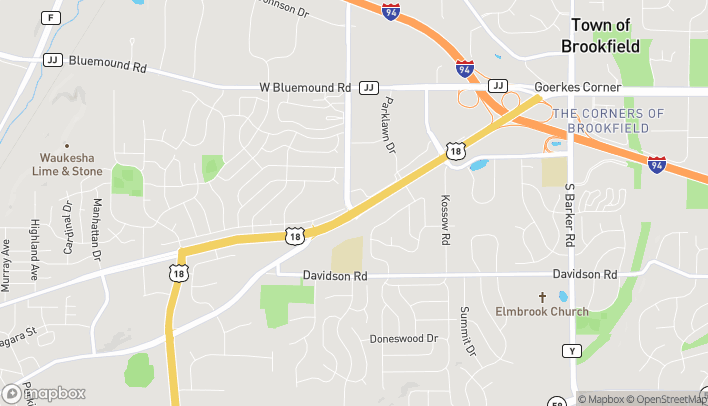 Map of 2202 E Moreland Blvd in Waukesha
