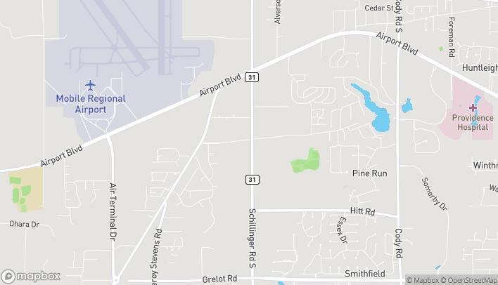 Mapa de 720 Schillinger Road S en Mobile