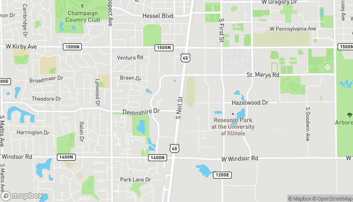 Map of 2033 S Neil St in Champaign