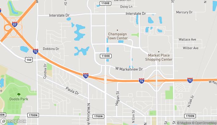 Mapa de 1902 North Prospect Avenue en Champaign