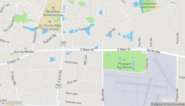 Mapa de 3817 E Main St en Saint Charles