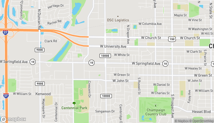 Map of 1712 W Springfield Ave in Champaign