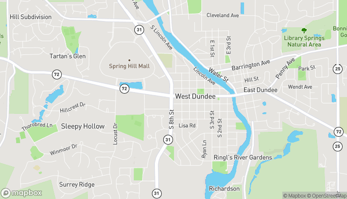 Map of 729 W Main St in West Dundee