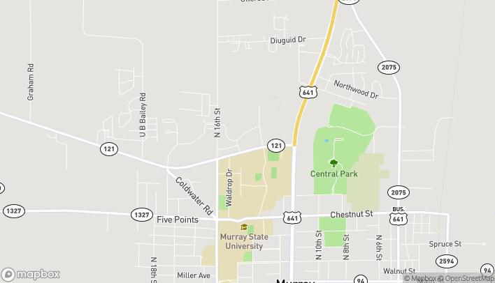 Mapa de 1414 Highway 121 en Murray