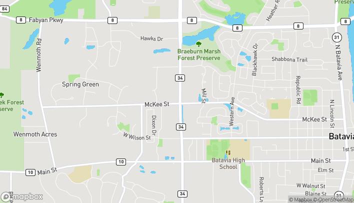 Mapa de 201 N Randall Rd en Batavia