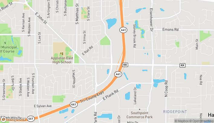 Map of 3310 East Calumet Street in Appleton