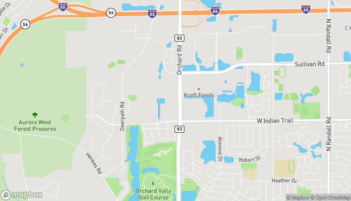 Mapa de 1330 Orchard Rd en Aurora