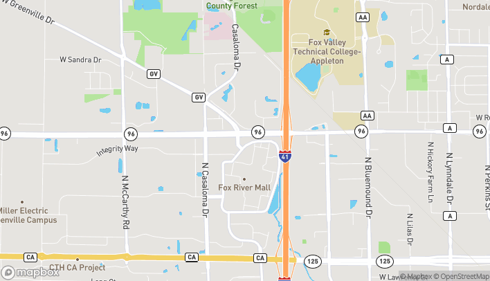 Map of 4347 W Wisconsin Ave in Appleton