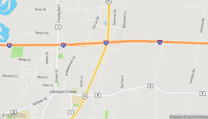 Map of 485 Wright Road in Johnson Creek