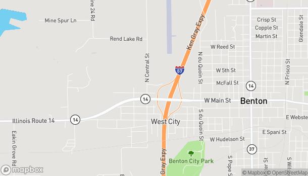 Mapa de 922 Giacone Drive en Benton