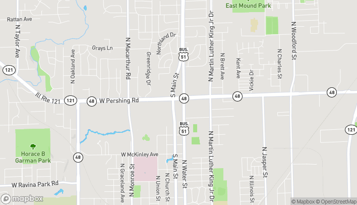 Mapa de 135 E Pershing Rd en Decatur