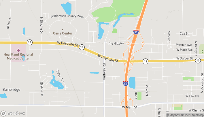 Map of 2703 W Deyoung Street in Marion