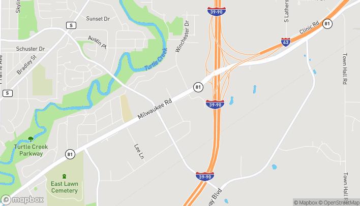 Mapa de 2850 Milwaukee Rd en Beloit