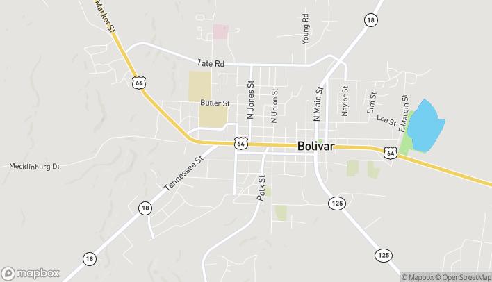 Mapa de 704 W Market St en Bolivar