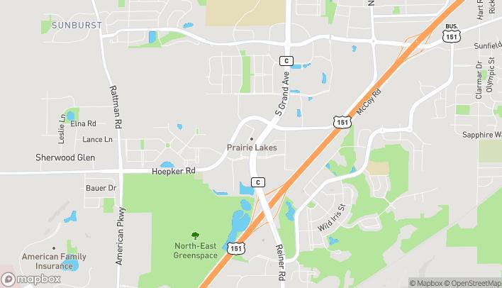 Map of 2808 Prairie Lakes Dr in Sun Prairie