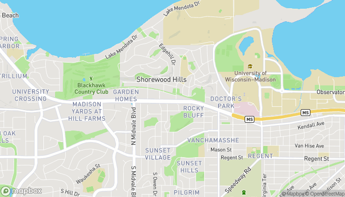 Map of 3302 University Ave in Madison